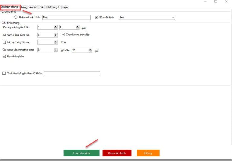 Thiết lập tương tác trang cá nhân trên công cụ nuôi nick zalo số lượng lớn
