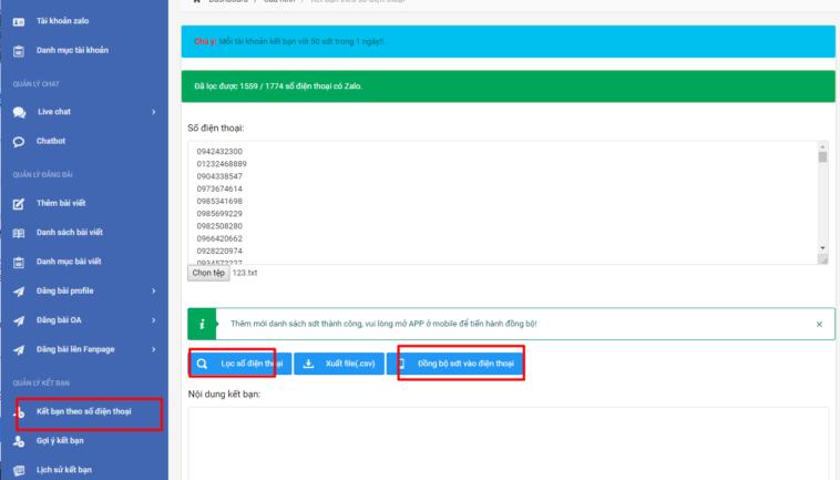 Cách spam tin nhắn zalo theo tệp sđt khách hàng tiềm năng