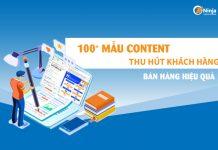 Mẫu content thu hút khách hàng hiệu quả